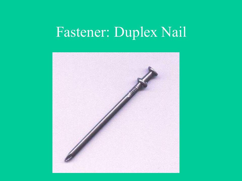 Fastener: Duplex Nail