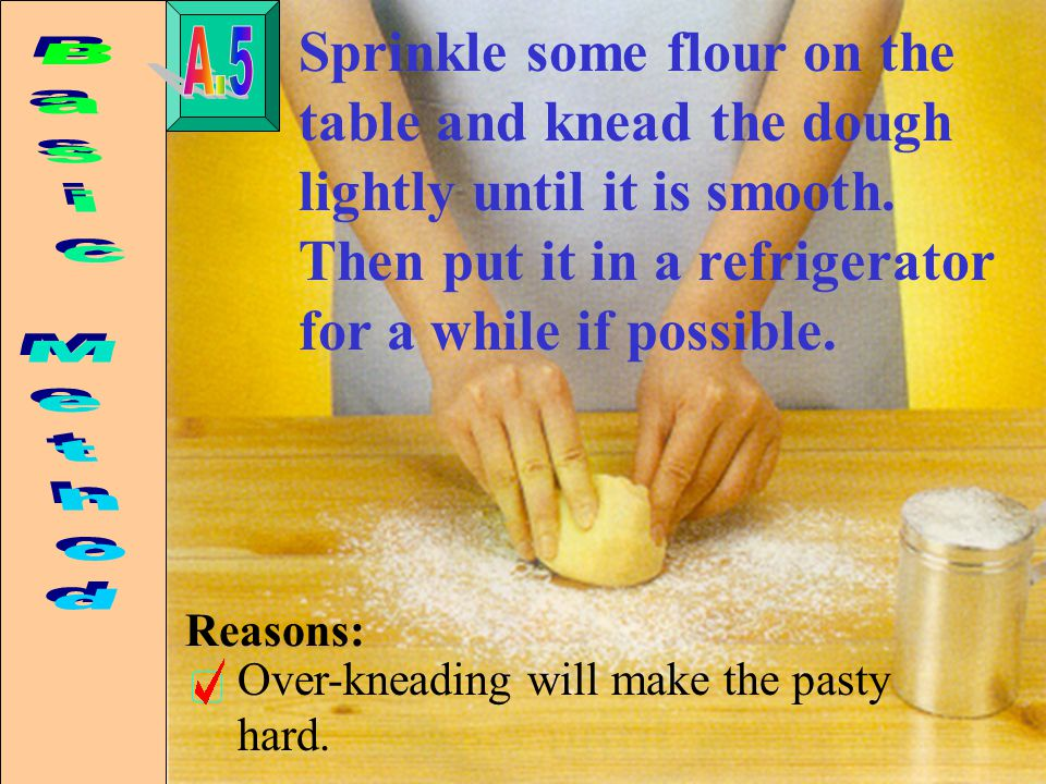 Dust the rolling pin with flour and roll the pastry out to a suitable thickness.