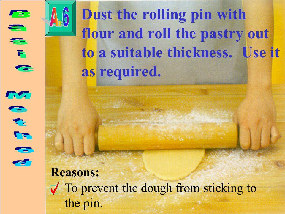 Pastry-making A. Basic method B. Preparing tart cases