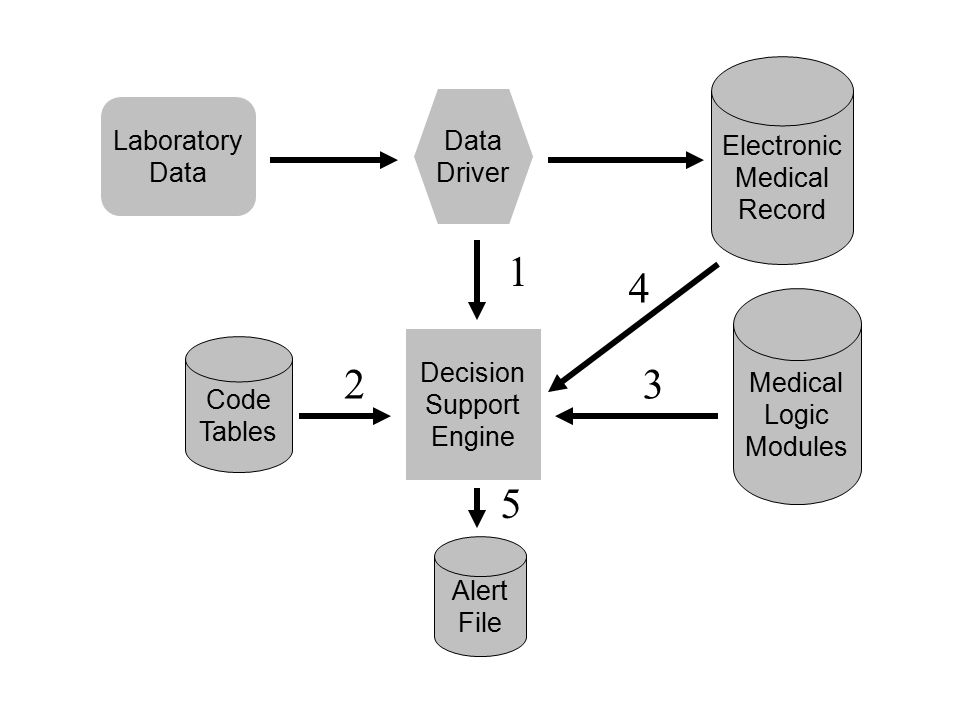 Electronic Medical Record Laboratory Data Driver Decision Support Engine Medical Logic Modules Code Tables 23 4 Alert File 5 1