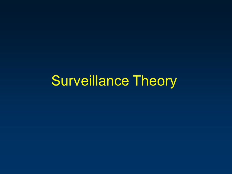 Paradigms and Models The Panopticon –Archetype: Total information awareness Signal detection theory –Trade-off between hit rate and false alarm rate Situation awareness –Detection, diagnosis, prediction