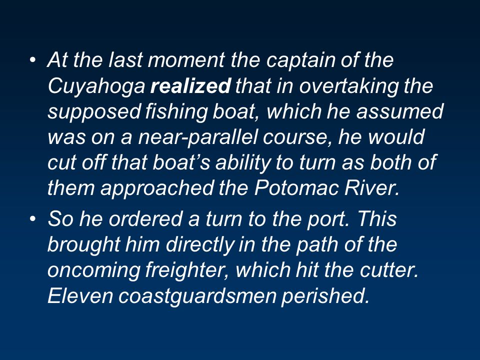 The captain's mental model