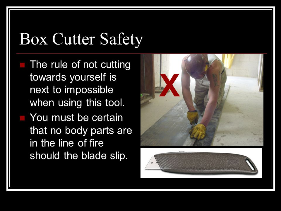 The Gator Knife Use it instead of a box cutter when splicing belts.