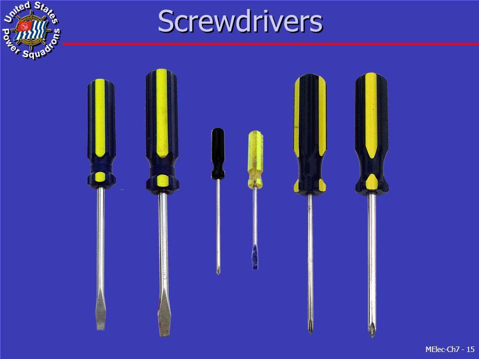 MElec-Ch7 - 15 Screwdrivers