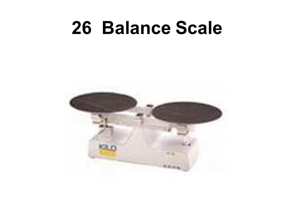 A Balance Scale is used to measure most baking ingredients.