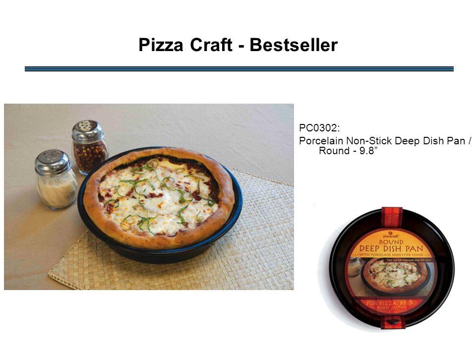 PC0302: Porcelain Non-Stick Deep Dish Pan / Round - 9.8 Pizza Craft - Bestseller