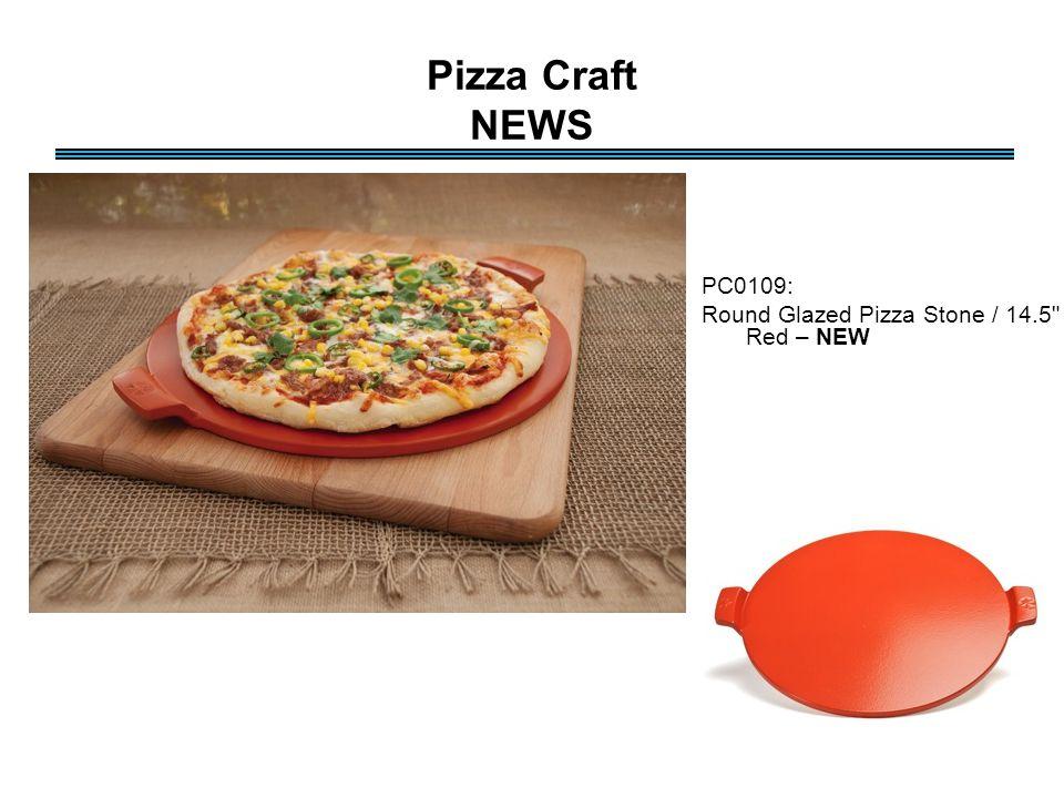 Pizza Craft NEWS PC0109: Round Glazed Pizza Stone / 14.5 - Red – NEW