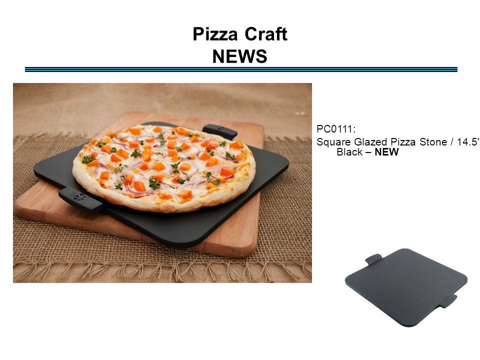 Pizza Craft NEWS PC0111: Square Glazed Pizza Stone / 14.5 - Black – NEW