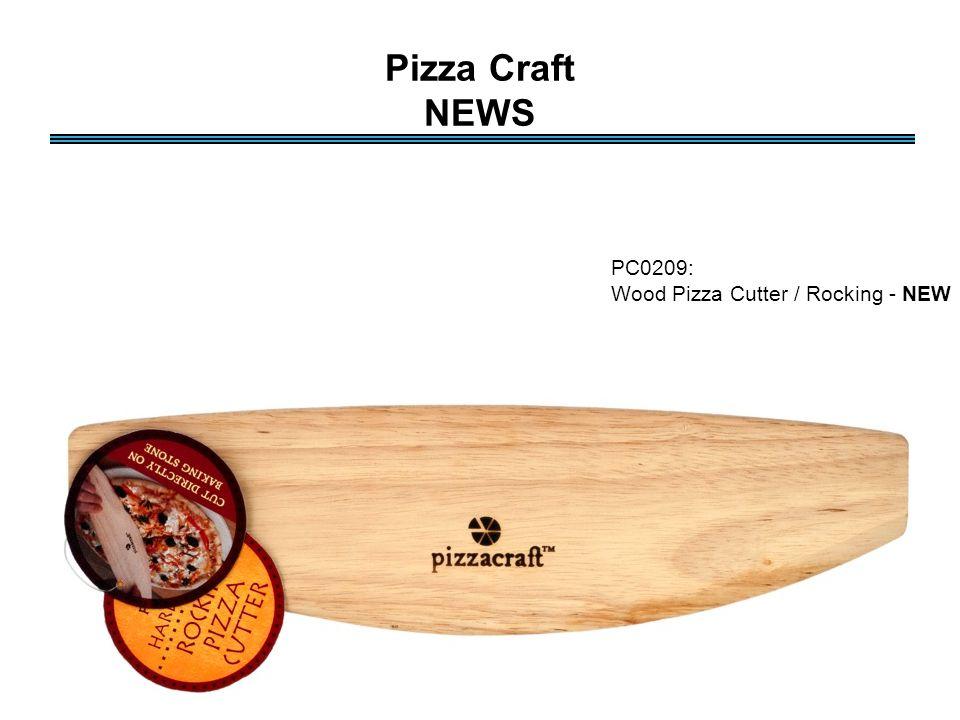 Pizza Craft NEWS PC0209: Wood Pizza Cutter / Rocking - NEW