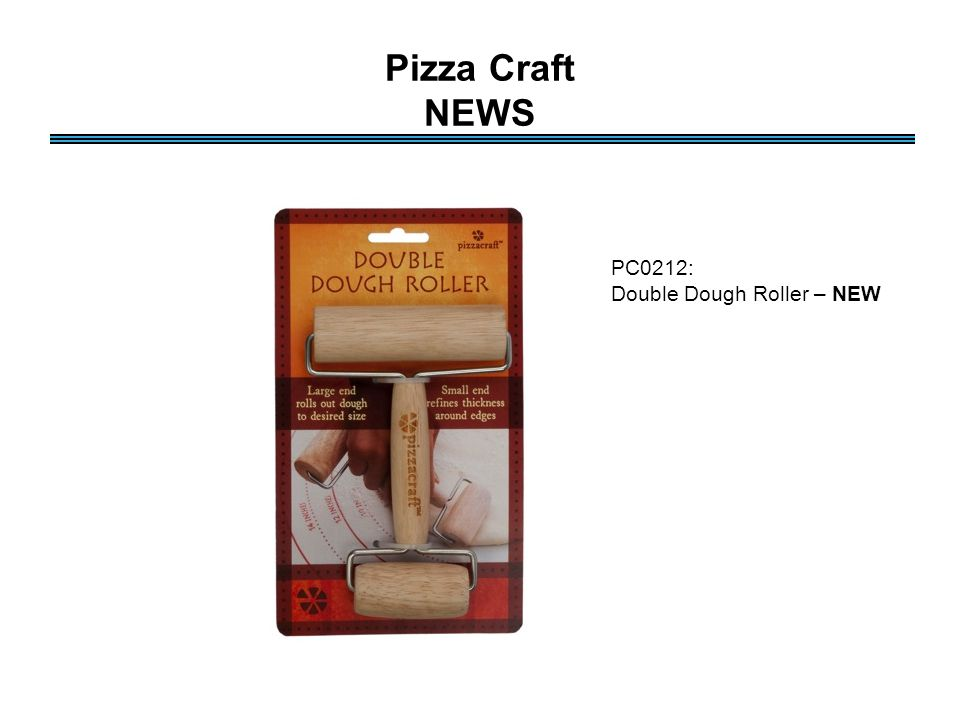 Pizza Craft NEWS PC0212: Double Dough Roller – NEW