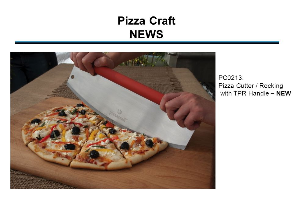 Pizza Craft NEWS PC0213: Pizza Cutter / Rocking with TPR Handle – NEW