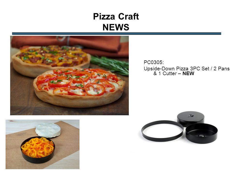 Pizza Craft NEWS PC0305: Upside-Down Pizza 3PC Set / 2 Pans & 1 Cutter – NEW