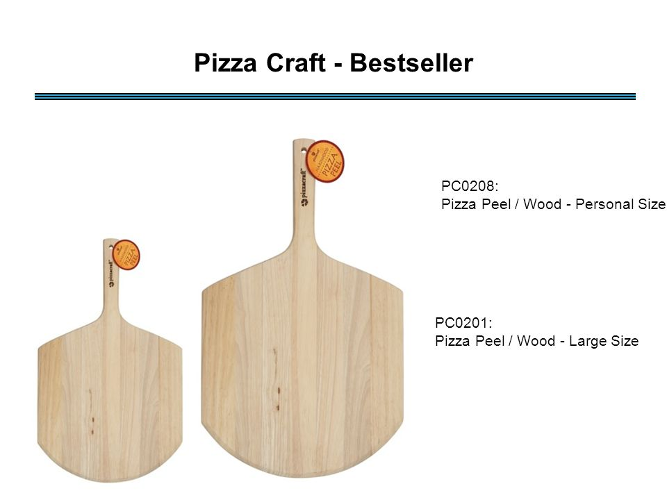 PC0208: Pizza Peel / Wood - Personal Size PC0201: Pizza Peel / Wood - Large Size Pizza Craft - Bestseller