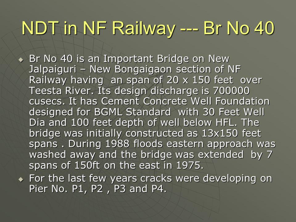 NDT in NF Railway --- Br No 40  M/s S.K.