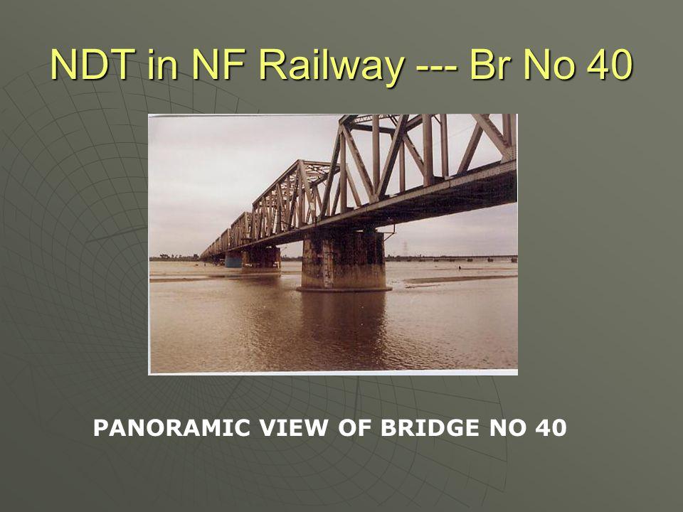 NDT in NF Railway --- Br No 40 ZIG ZAG CRACK PATTERN
