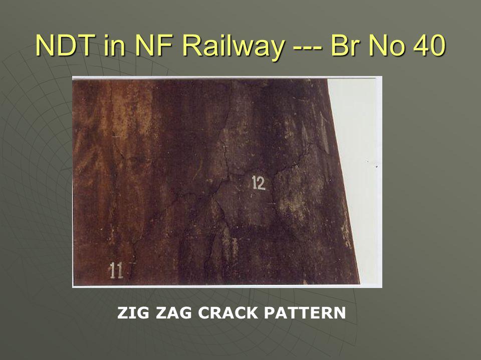 NDT in NF Railway --- Br No 40 CRACKS IN WELL CAP