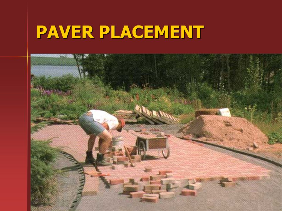 PAVER PLACEMENT