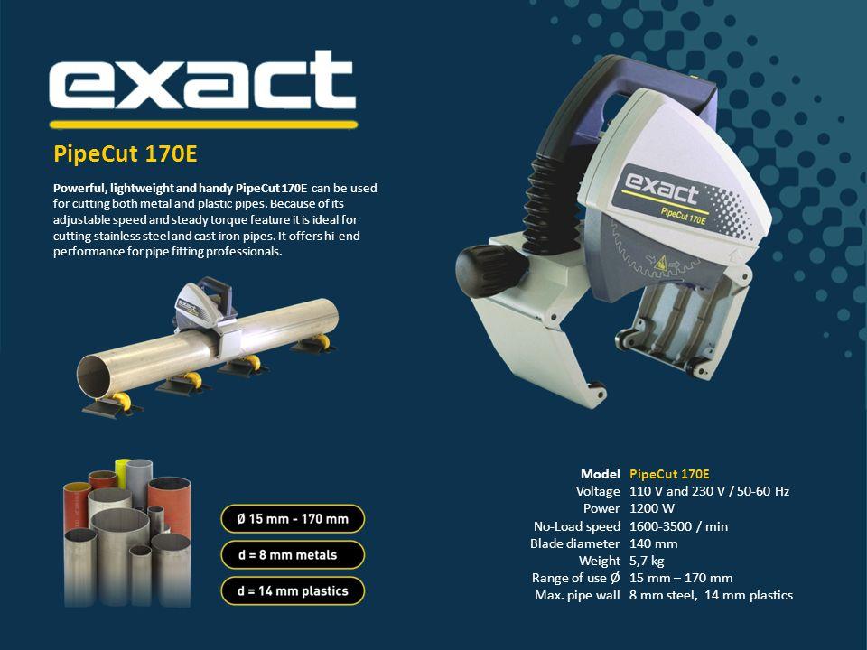 Model Voltage Power No-Load speed Blade diameter Weight Range of use Ø Max.