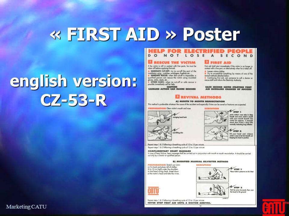 Marketing CATU « FIRST AID » Poster english version: CZ-53-R