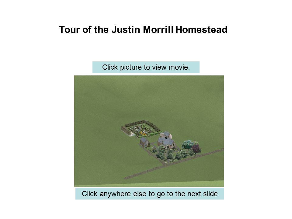 Justin Smith Morrill was born in Strafford, VT on April 14, 1810 (1).