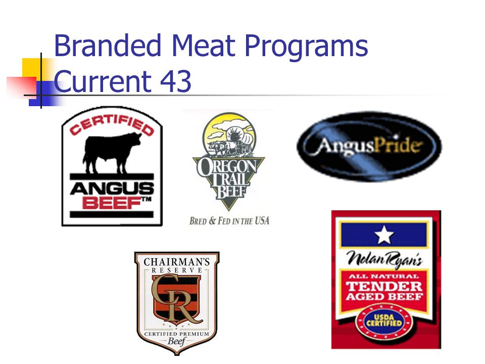 Branded Meat Programs Current 43