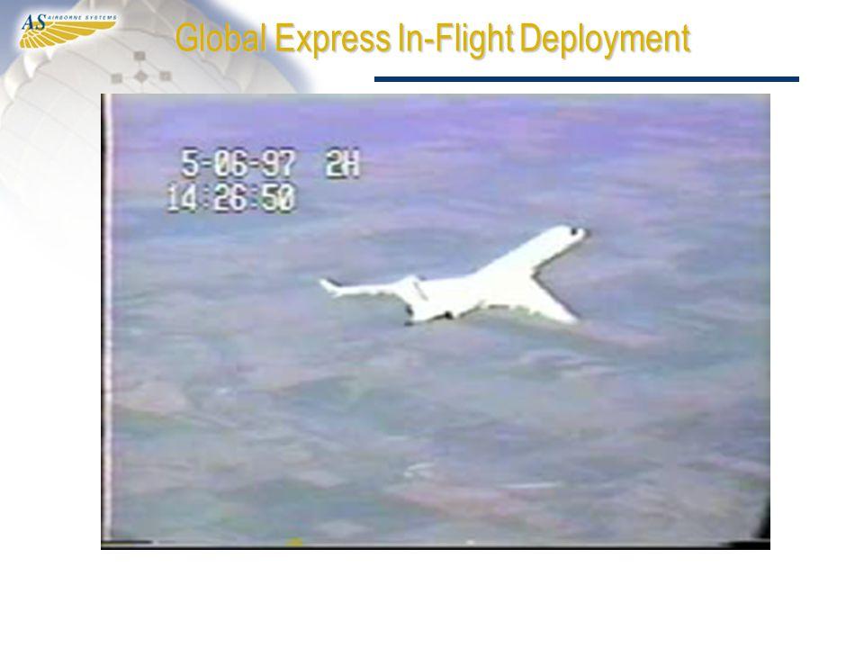Global Express In-Flight Deployment