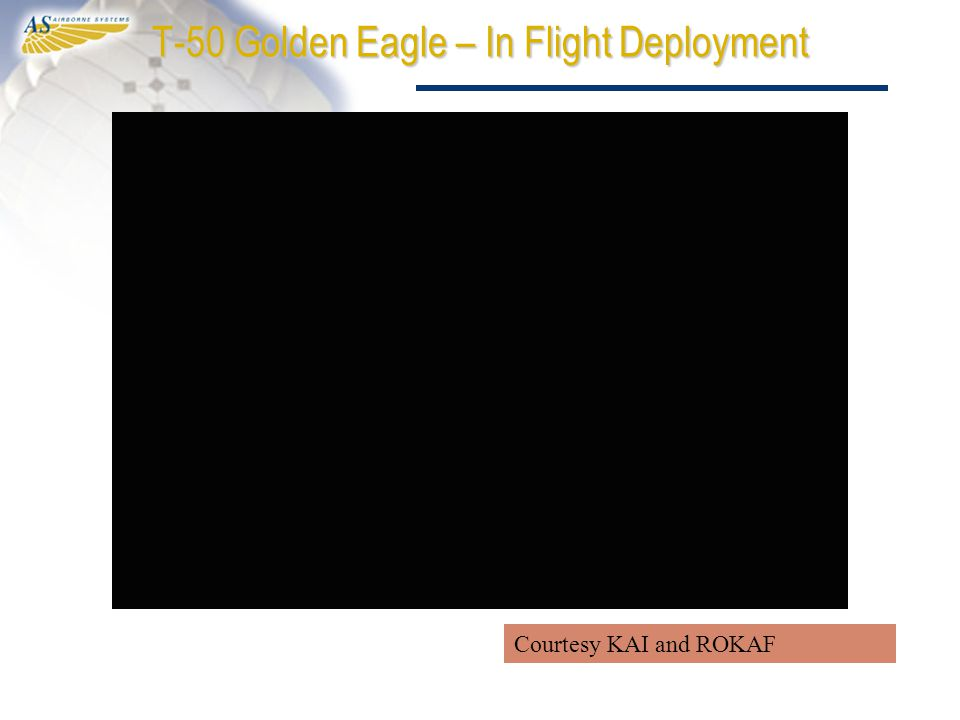 T-50 Golden Eagle – In Flight Deployment Courtesy KAI and ROKAF