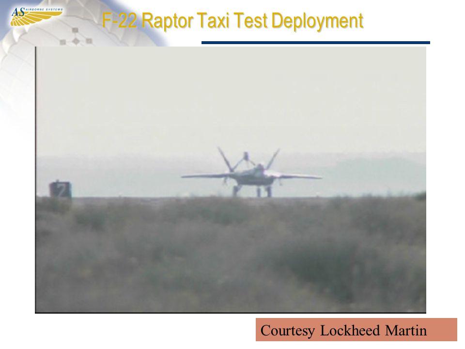 F-22 Raptor Taxi Test Deployment Courtesy Lockheed Martin