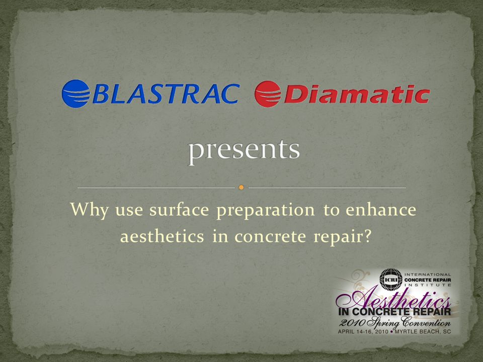 Why use surface preparation to enhance aesthetics in concrete repair