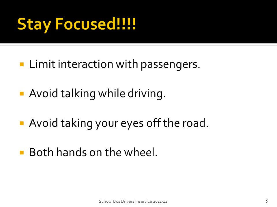  90% of reaction time depends on vision. Senses compromised after sundown.
