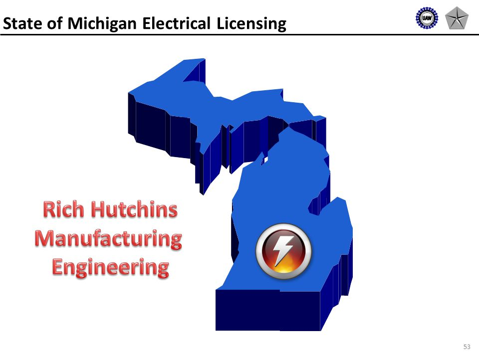 53 State of Michigan Electrical Licensing