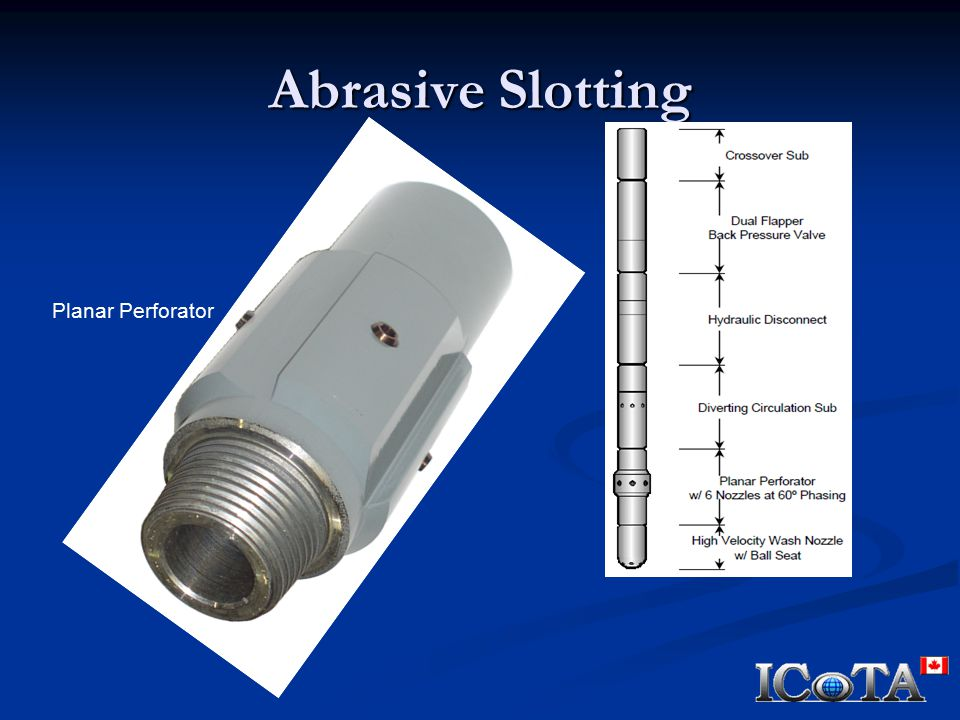 Abrasive Slotting Planar Perforator