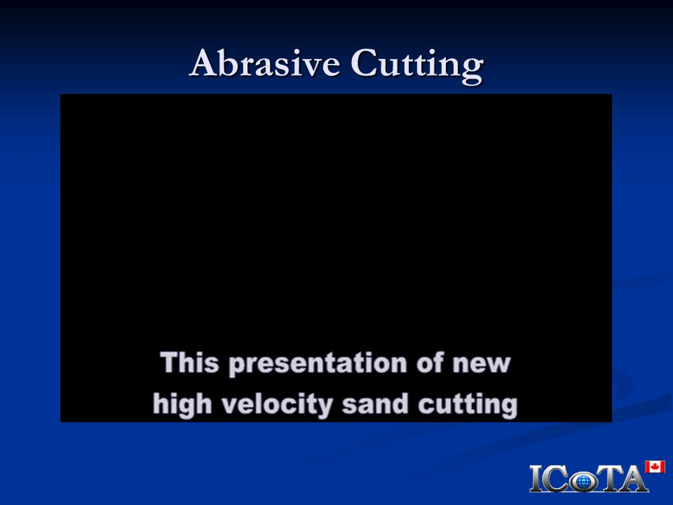 Abrasive Cutting