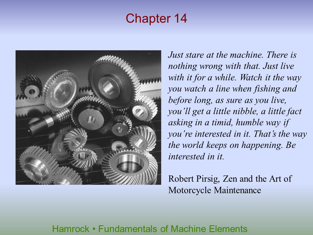 Hamrock Fundamentals of Machine Elements Thursday April 12, 2012 Qz#3 – 25 minutes Test 3 – Thursday April 26.