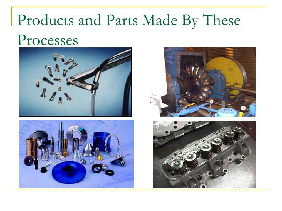 Products and Parts Made By These Processes
