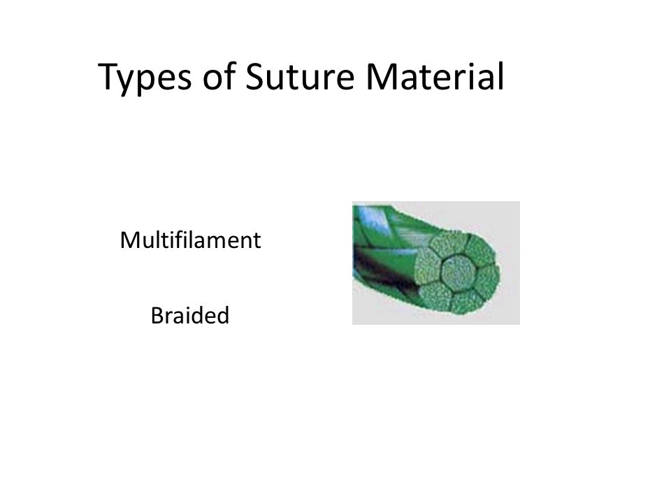 Types of Suture Material Multifilament Braided