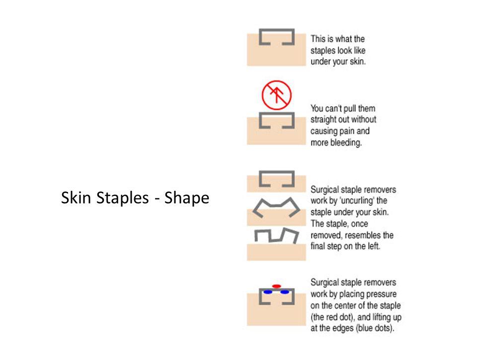 Skin Staples - Shape