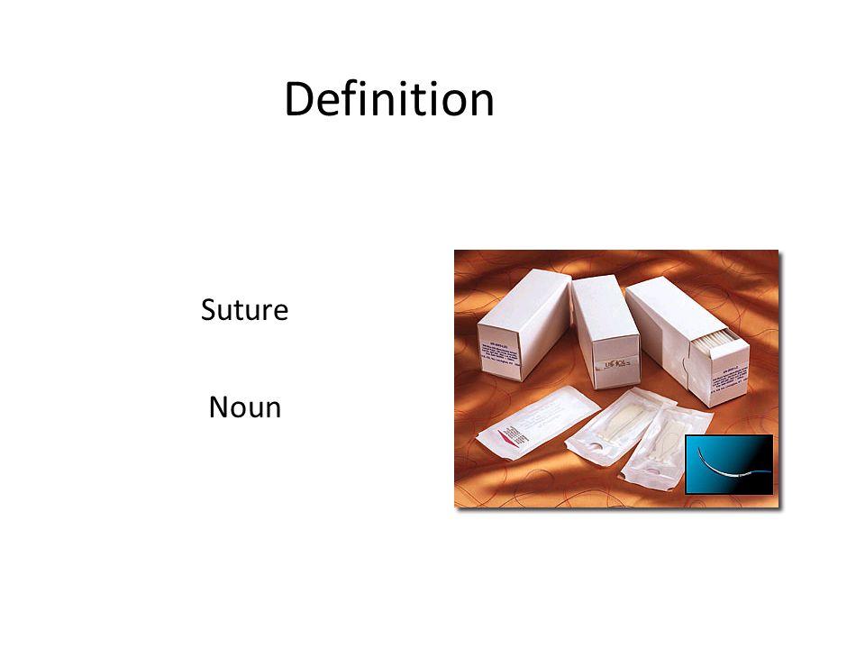 Definition Suture Noun