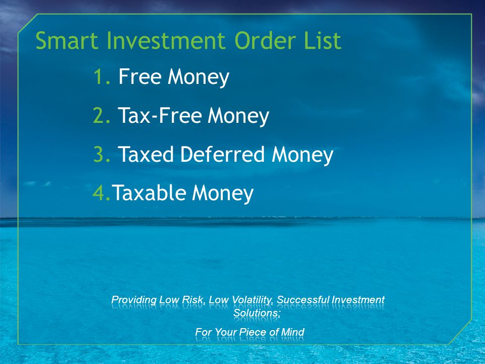 Smart Investment Order List