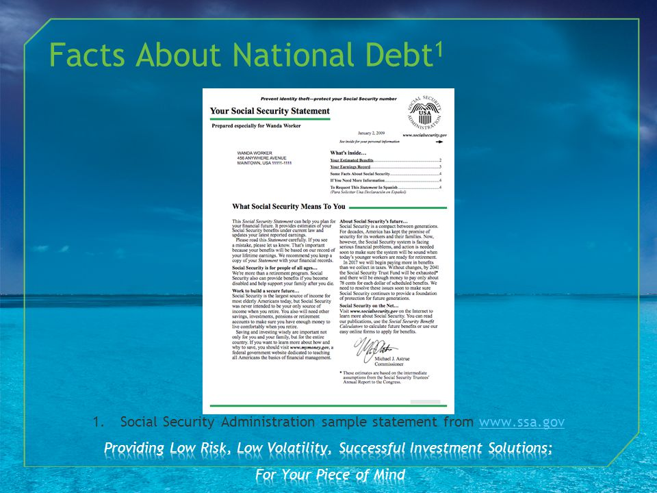 Facts About National Debt 1