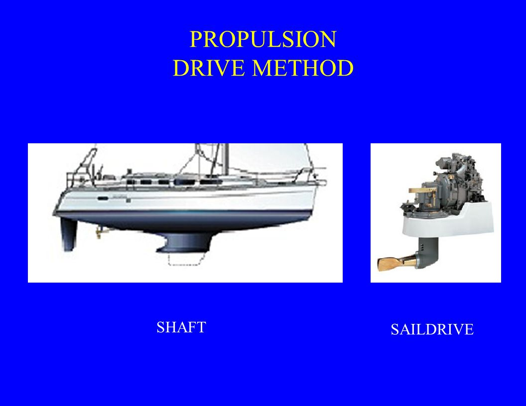 PROPULSION DRIVE METHOD SHAFT SAILDRIVE
