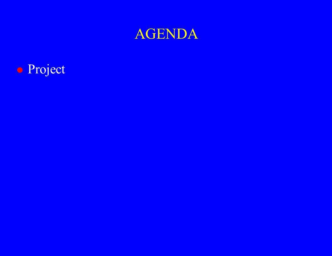 AGENDA l Project