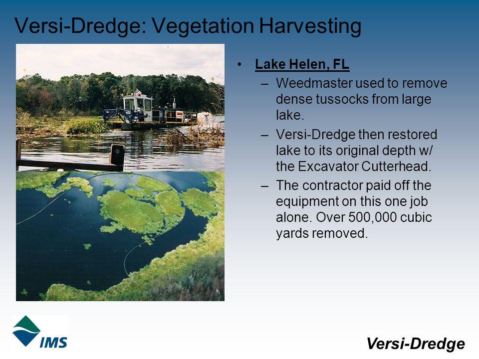 Versi-Dredge: Vegetation Harvesting Lake Helen, FL –Weedmaster used to remove dense tussocks from large lake.