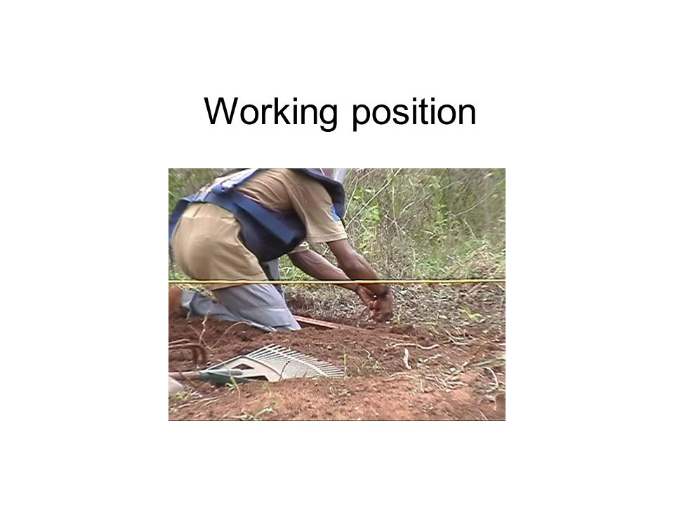 Working position