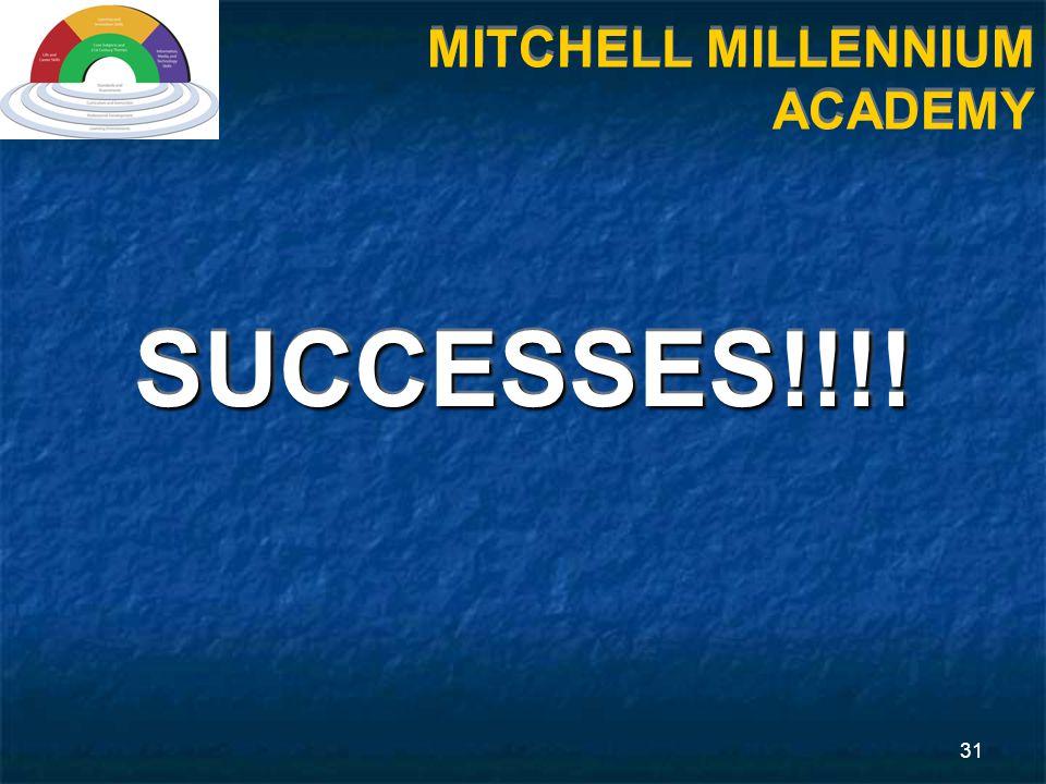 31 MITCHELL MILLENNIUM ACADEMY SUCCESSES!!!!SUCCESSES!!!!