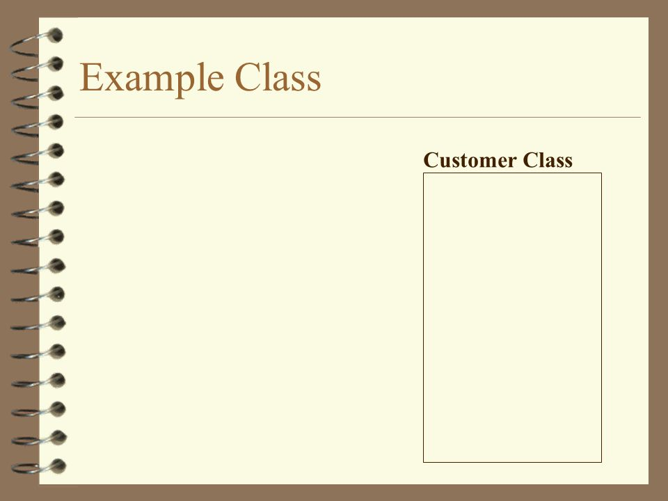 Example Class Customer Class