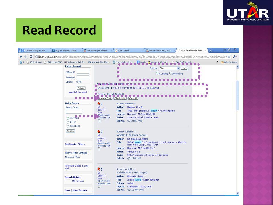 Read Record