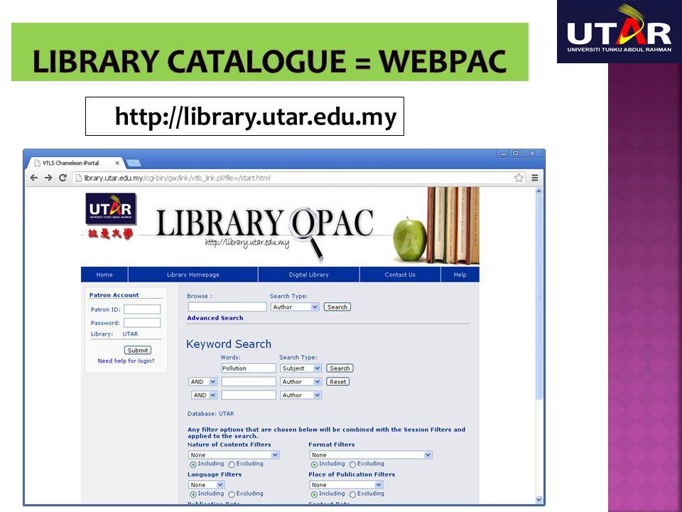 http://library.utar.edu.my