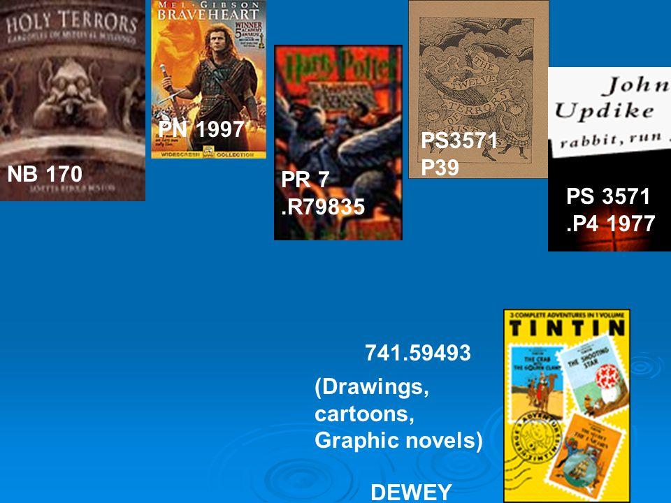 PS3571 P39 NB 170 741.59493 PR 7.R79835 PN 1997 DEWEY (Drawings, cartoons, Graphic novels) PS 3571.P4 1977