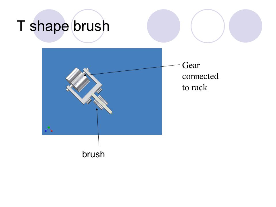 T shape brush brush Gear connected to rack